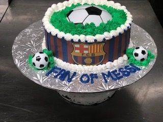 Fan Of Messi Soccer Cake